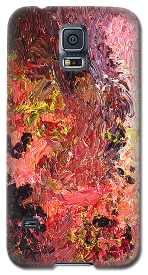 Fusionart Galaxy S5 Case featuring the painting Ganesh In The Garden by Ralph White