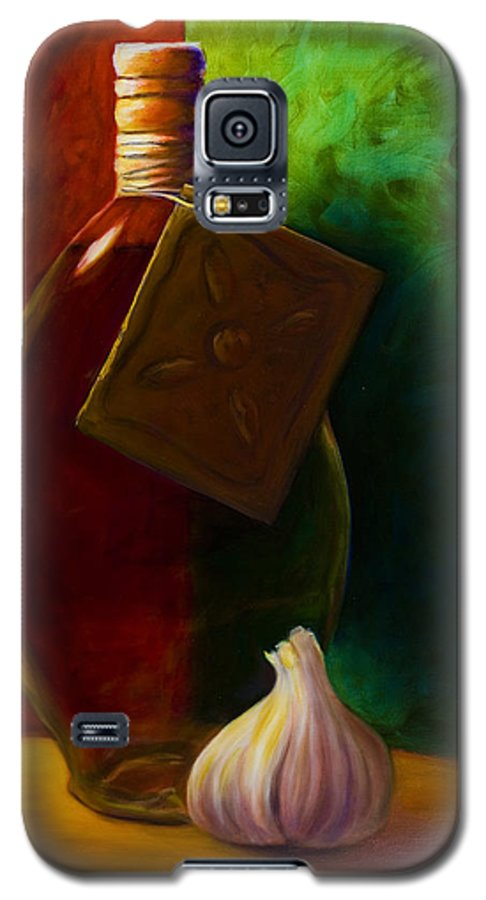 Shannon Grissom Galaxy S5 Case featuring the painting Garlic And Oil by Shannon Grissom