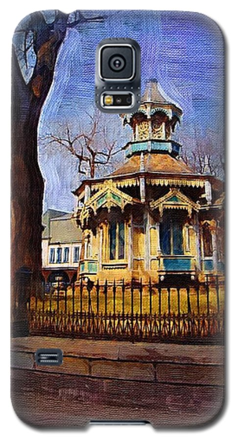 Architecture Galaxy S5 Case featuring the digital art Gazebo And Tree by Anita Burgermeister