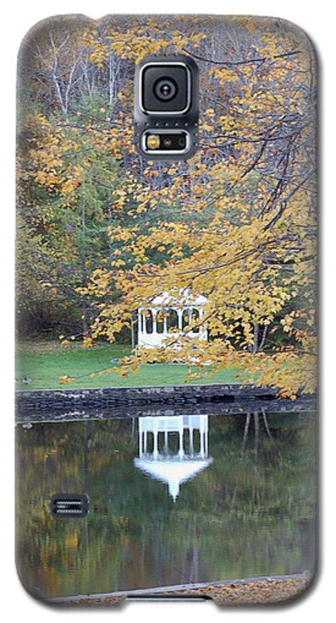 Gazebo Galaxy S5 Case featuring the photograph Gazebo Reflection by Faith Harron Boudreau