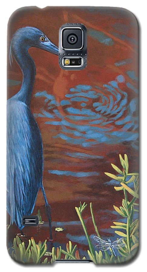 Painting Galaxy S5 Case featuring the painting Gazing Intently by Peter Muzyka