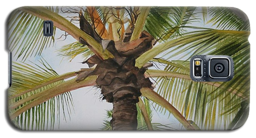 Palm Tree Galaxy S5 Case featuring the painting Gecko Heaven by Jean Blackmer