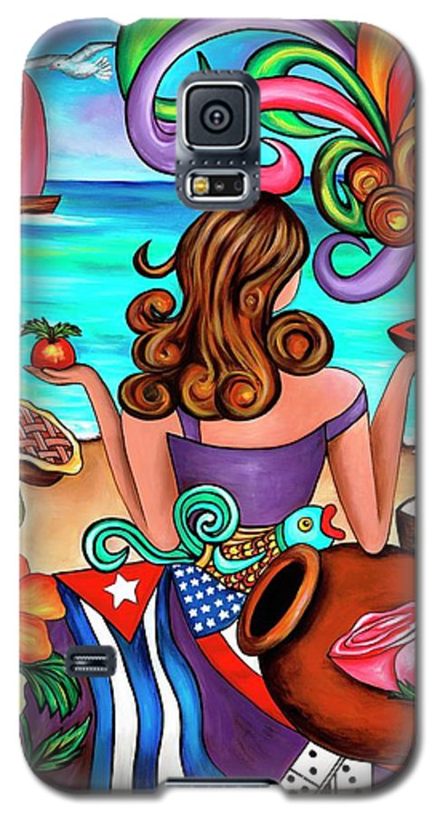 Cuba Galaxy S5 Case featuring the painting Generation Spanglish by Annie Maxwell