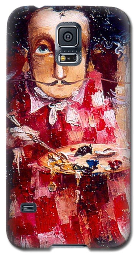 Genius Galaxy S5 Case featuring the painting Genius by Gia Chikvaidze