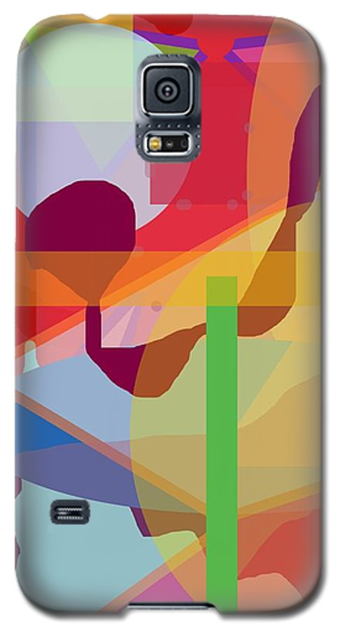 Abstract Galaxy S5 Case featuring the painting Geo Frenzy by Pharris Art