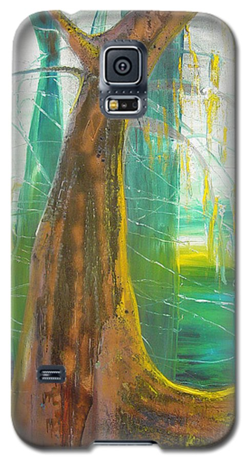 Landscape Galaxy S5 Case featuring the painting Georgia Morning by Peggy Blood
