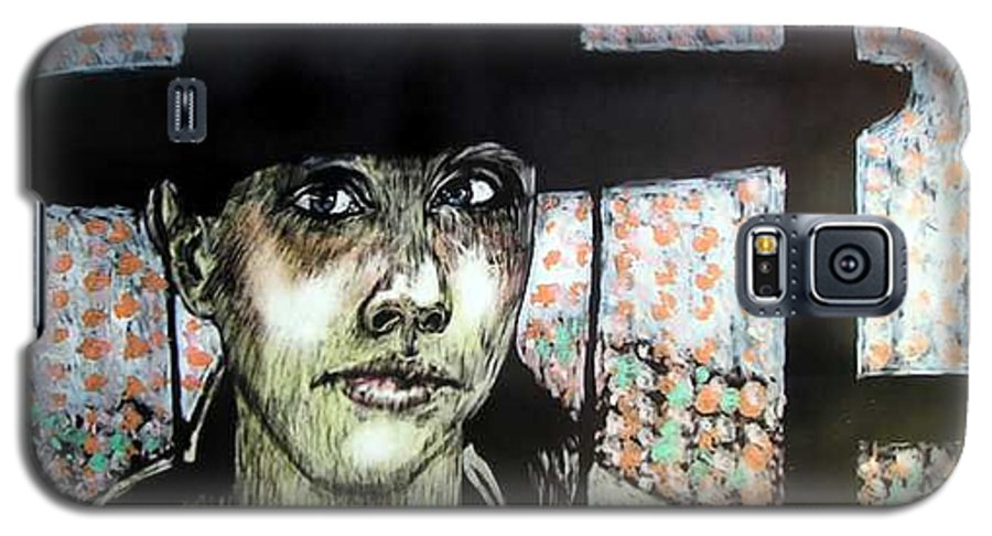 Galaxy S5 Case featuring the mixed media Geri by Chester Elmore