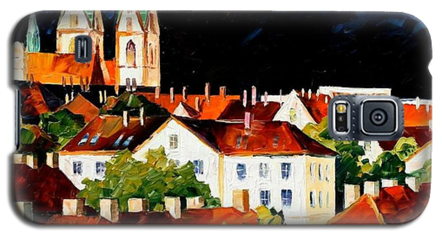 City Galaxy S5 Case featuring the painting Germany - Freiburg by Leonid Afremov