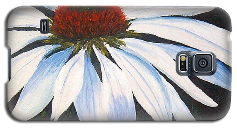 Cone Flowers Galaxy S5 Case featuring the painting Ghost Cone by Tami Booher