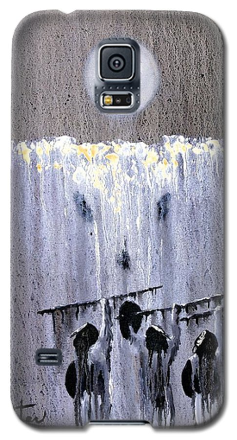 American Indian Galaxy S5 Case featuring the painting Ghost Dance by Patrick Trotter