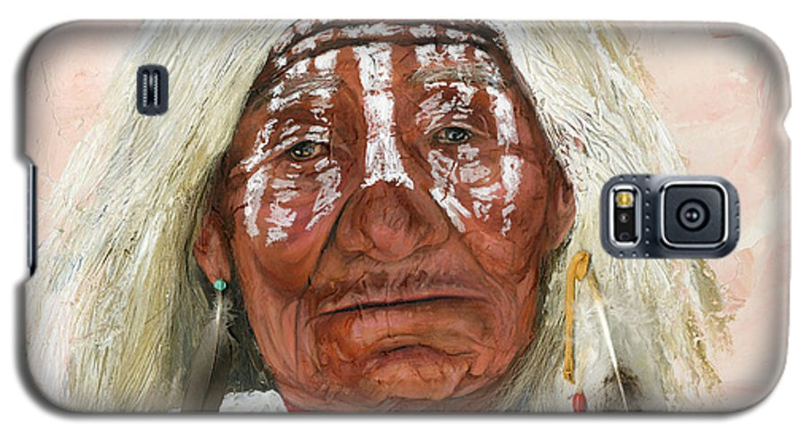 Southwest Art Galaxy S5 Case featuring the painting Ghost Shaman by J W Baker