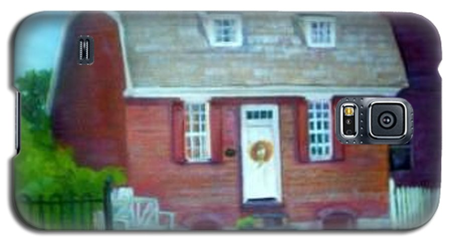 Revell House Galaxy S5 Case featuring the painting Gingerbread House by Sheila Mashaw