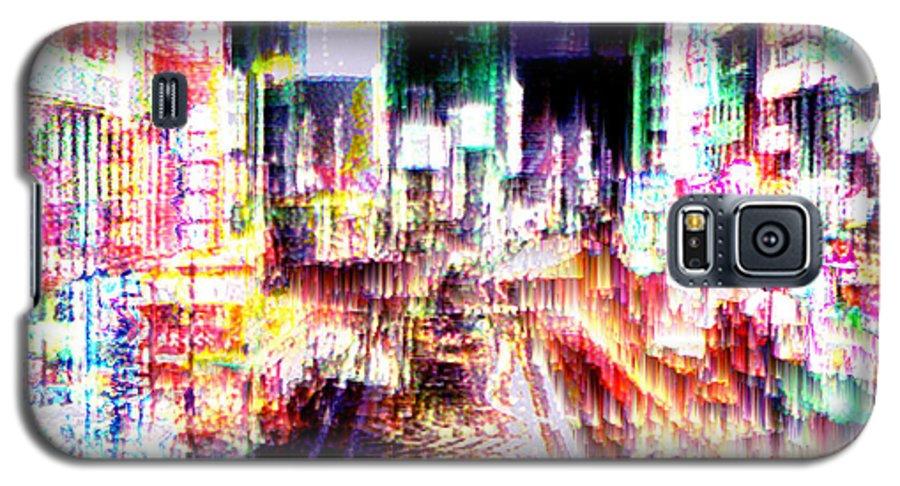 Tokyo Galaxy S5 Case featuring the digital art Ginsa Glitz by Seth Weaver