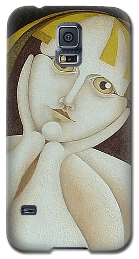 Sacha Circulism Circulismo Galaxy S5 Case featuring the painting Girl From Chile  2005 by S A C H A - Circulism Technique