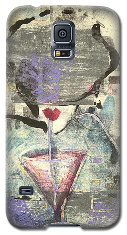 Cafe Galaxy S5 Case featuring the painting Girl With Drink by Maryn Crawford