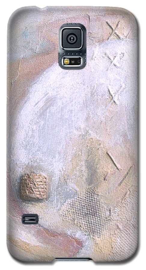 Collage Galaxy S5 Case featuring the painting Give And Receive by Kerryn Madsen-Pietsch