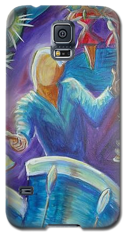 Jazz Galaxy S5 Case featuring the painting Give Me A Beat by Regina Walsh