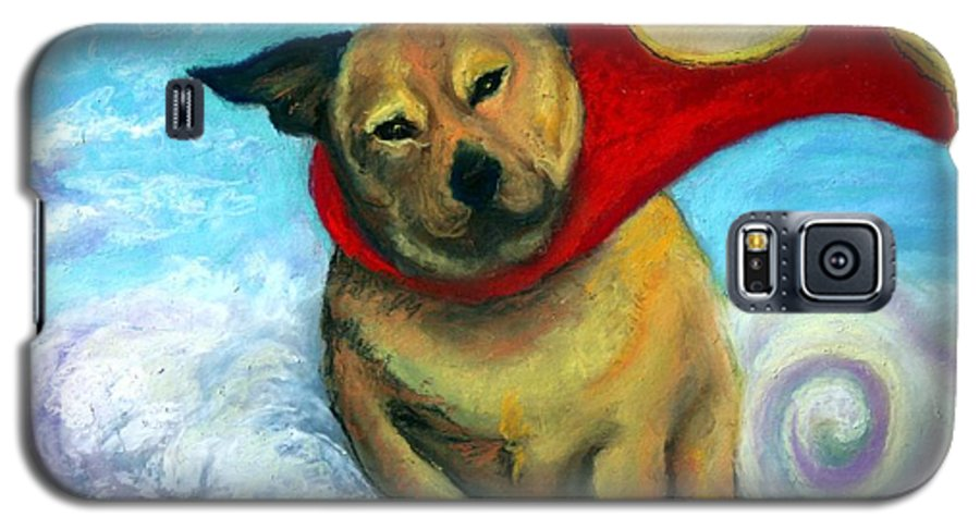 Dog Galaxy S5 Case featuring the painting Gizmo The Great by Minaz Jantz