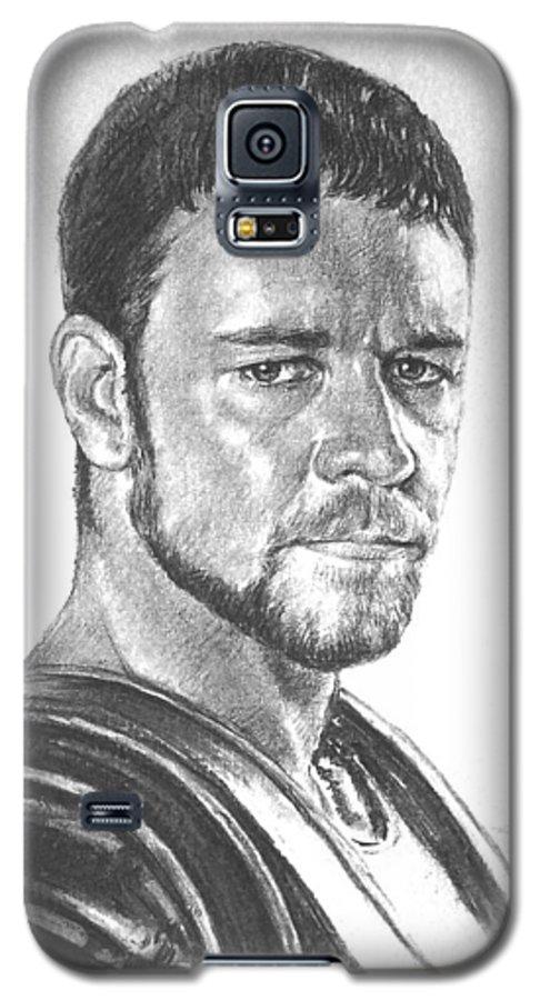 Portraits Galaxy S5 Case featuring the drawing Gladiator by Iliyan Bozhanov
