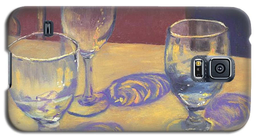 Glasses Galaxy S5 Case featuring the painting Glasslights by Sharon E Allen