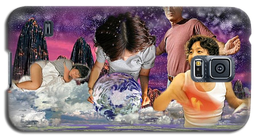 Landscape Galaxy S5 Case featuring the digital art Global Dreaming by Dave Martsolf