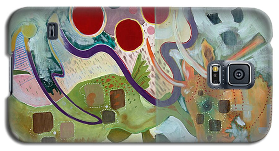 Abstract Expressionist Dream-surreal Galaxy S5 Case featuring the painting Goat Squad by Eileen Hale