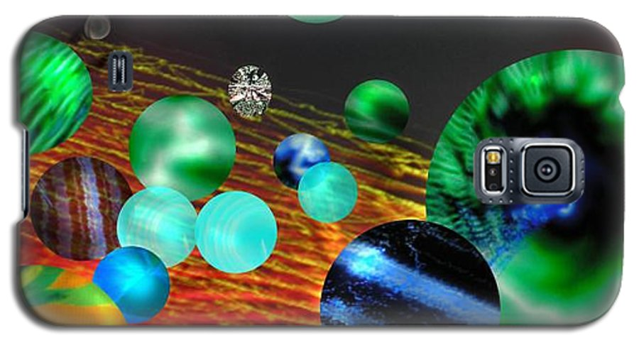 A Tribute To Donovan And His Song cosmic Wheels. A Line In The Song...god Is Playing Marbles With Galaxy S5 Case featuring the digital art God Playing Marbles Tribute To Donovan by Seth Weaver