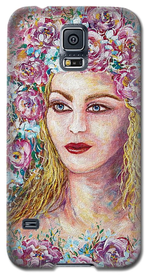 Goddess Of Good Fortune Galaxy S5 Case featuring the painting Goddess Of Good Fortune by Natalie Holland