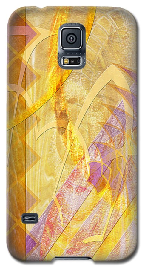 Gold Fusion Galaxy S5 Case featuring the digital art Gold Fusion by John Beck