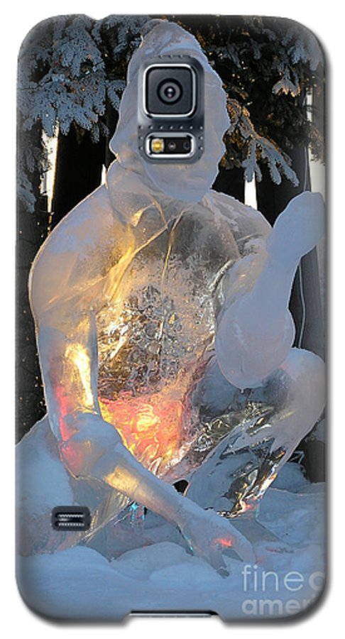 Ice Sculpture Galaxy S5 Case featuring the photograph Gold Miner by Louise Magno