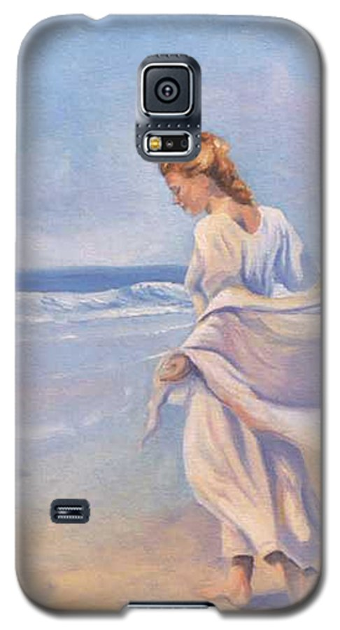 Beach Galaxy S5 Case featuring the painting Golden Girls by Jay Johnson