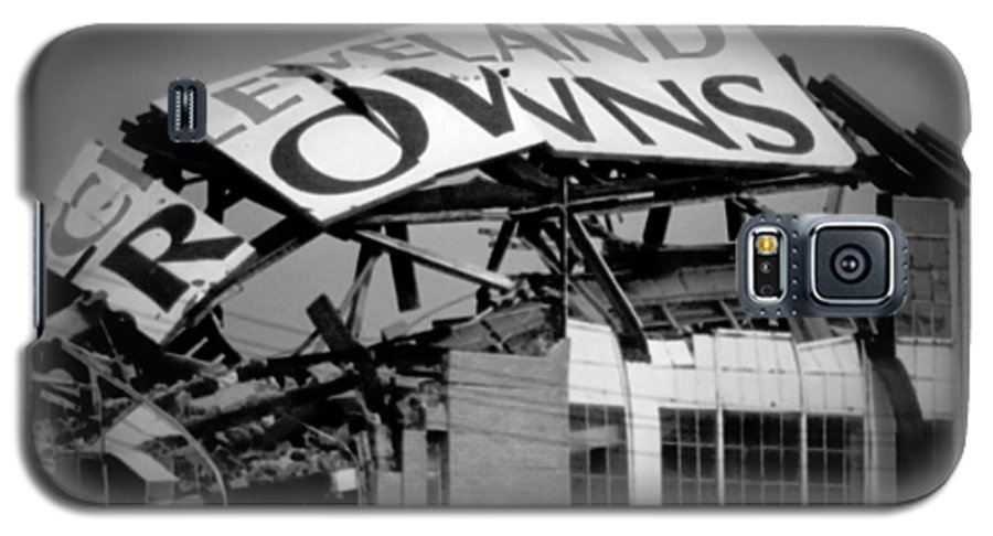 Cleveland Galaxy S5 Case featuring the photograph Goodbye Cleveland Stadium by Kenneth Krolikowski