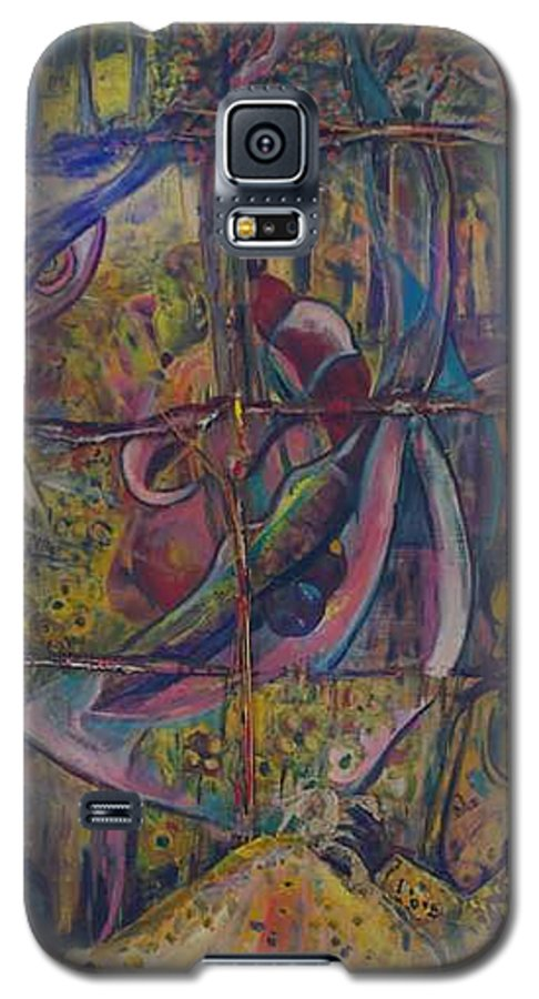 Mother Galaxy S5 Case featuring the painting Goodbye Sweet Dreams by Peggy Blood