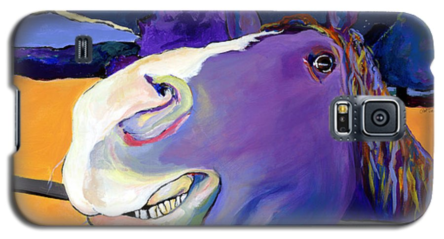 Barnyard Animal Galaxy S5 Case featuring the painting Got Oats   by Pat Saunders-White