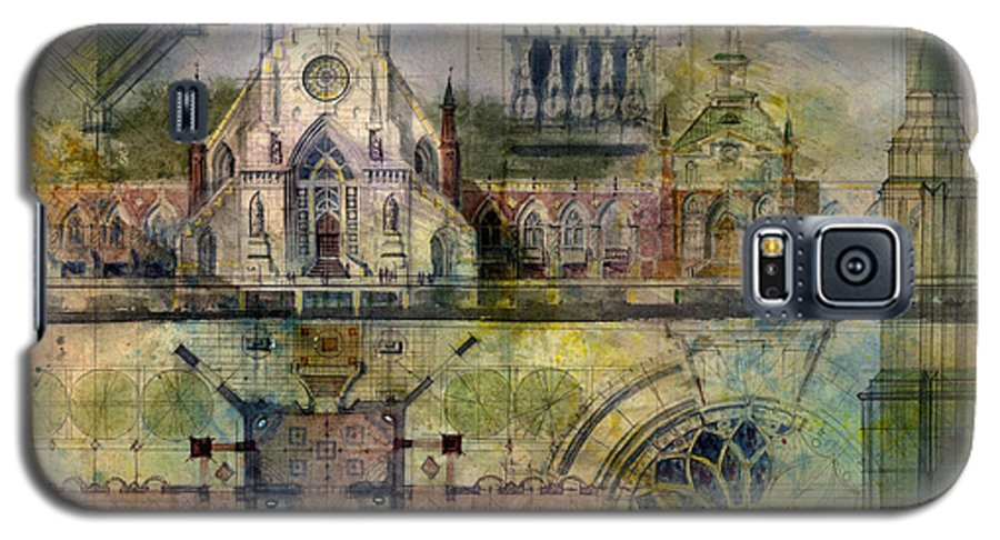 Gothic Galaxy S5 Case featuring the painting Gothic by Andrew King