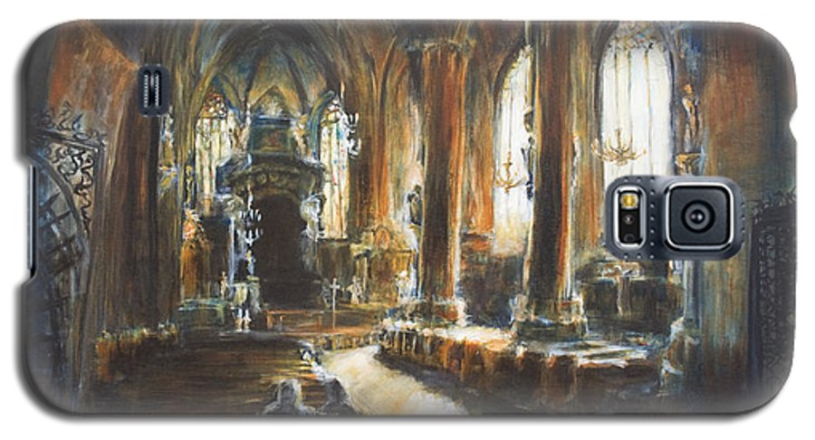 Church Galaxy S5 Case featuring the painting Gothic Church by Nik Helbig