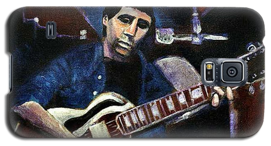 Shining Guitar Galaxy S5 Case featuring the painting Graceland Tribute To Paul Simon by Seth Weaver