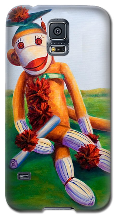 Graduation Galaxy S5 Case featuring the painting Graduate Made Of Sockies by Shannon Grissom