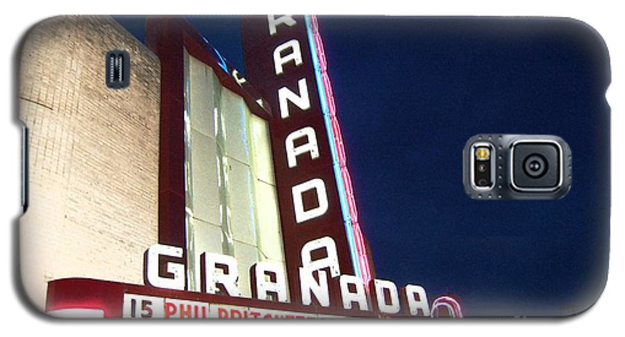 Music Galaxy S5 Case featuring the photograph Granada Theater by Debbi Granruth