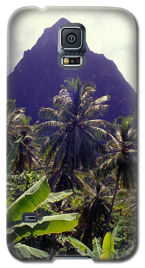 Caribbean Galaxy S5 Case featuring the photograph Grand Piton by Carl Purcell