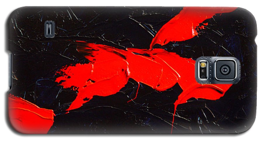 Abstract Galaxy S5 Case featuring the painting Grandma I by Dean Triolo