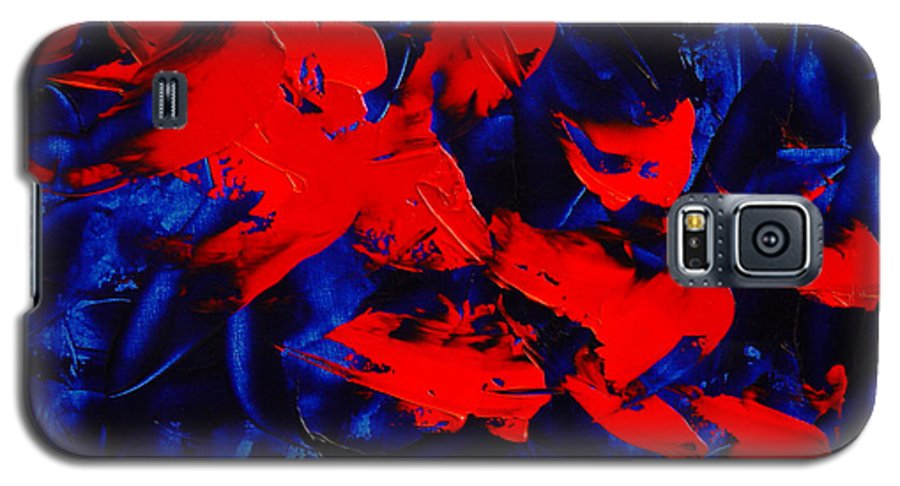 Abstract Galaxy S5 Case featuring the painting Grandma II by Dean Triolo