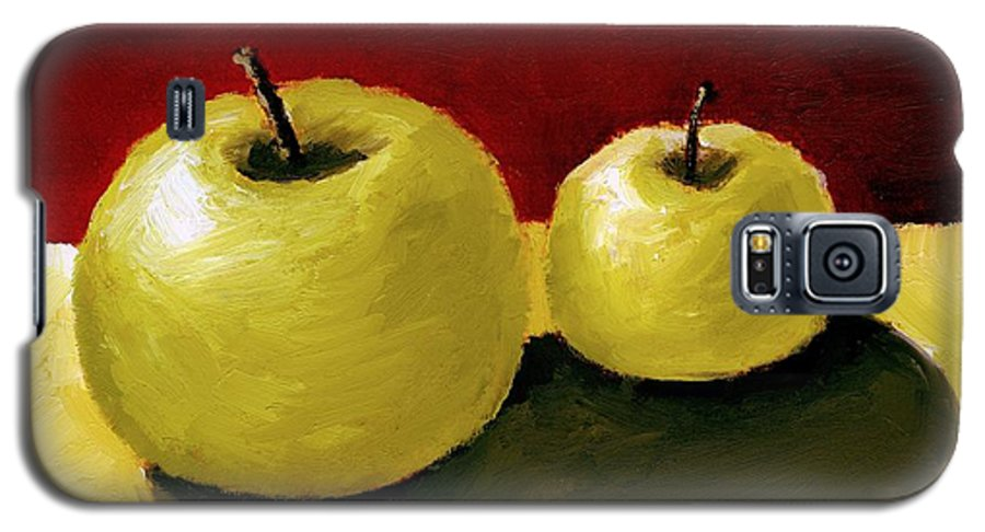 Apple Galaxy S5 Case featuring the painting Granny Smith Apples by Michelle Calkins