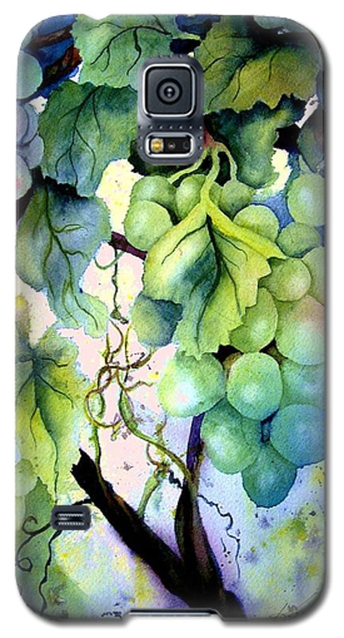 Grapes Galaxy S5 Case featuring the painting Grapes II by Karen Stark