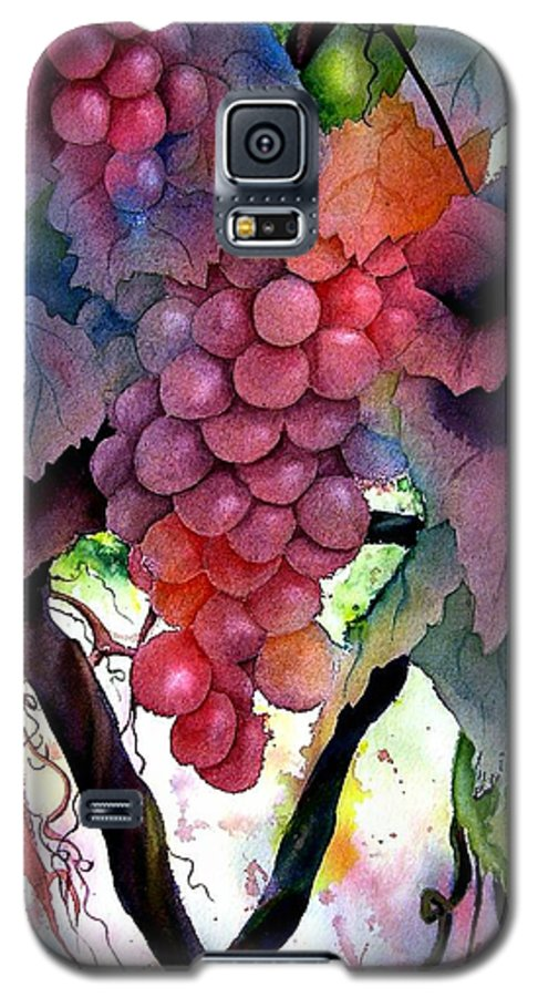 Grape Galaxy S5 Case featuring the painting Grapes IIi by Karen Stark