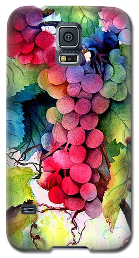 Grapes Galaxy S5 Case featuring the painting Grapes by Karen Stark