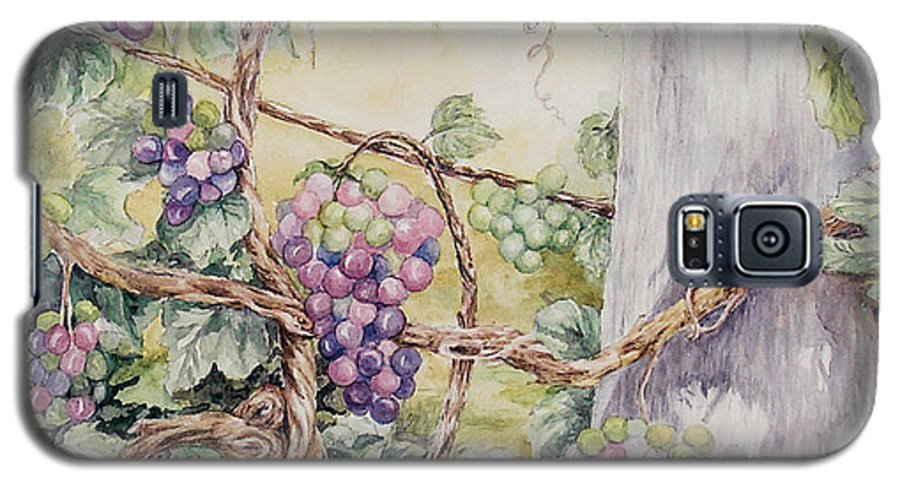 Vines Galaxy S5 Case featuring the painting Grapevine Laurel Lakevineyard by Valerie Meotti
