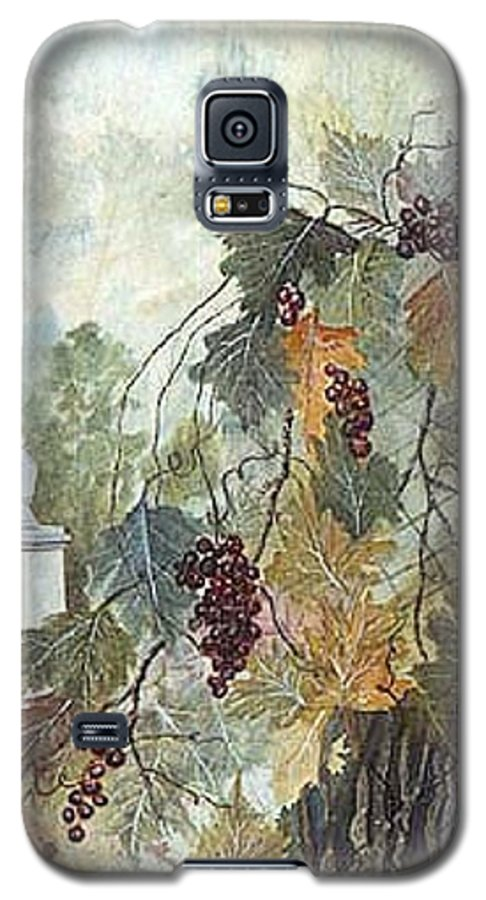 Fruit Galaxy S5 Case featuring the painting Grapevine Topiary by Ben Kiger