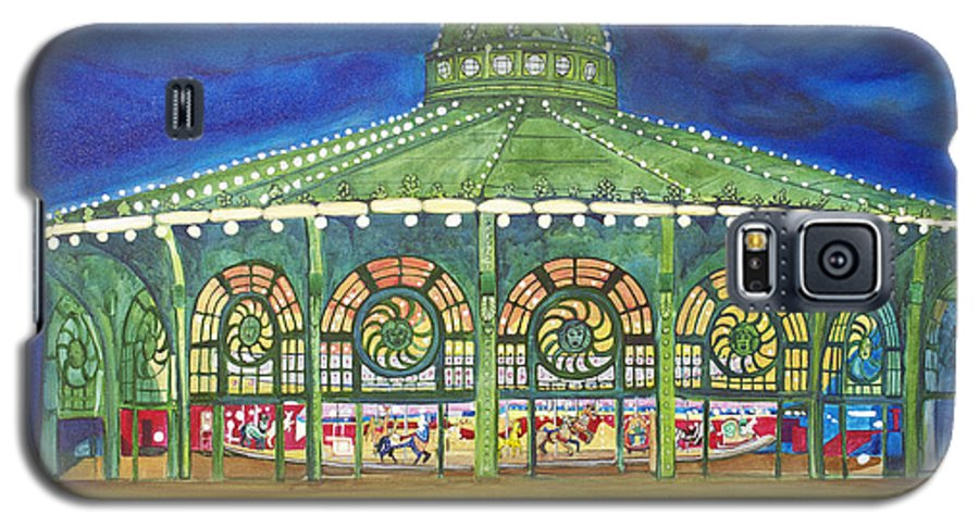 Night Paintings Of Asbury Park Galaxy S5 Case featuring the painting Grasping The Memories by Patricia Arroyo