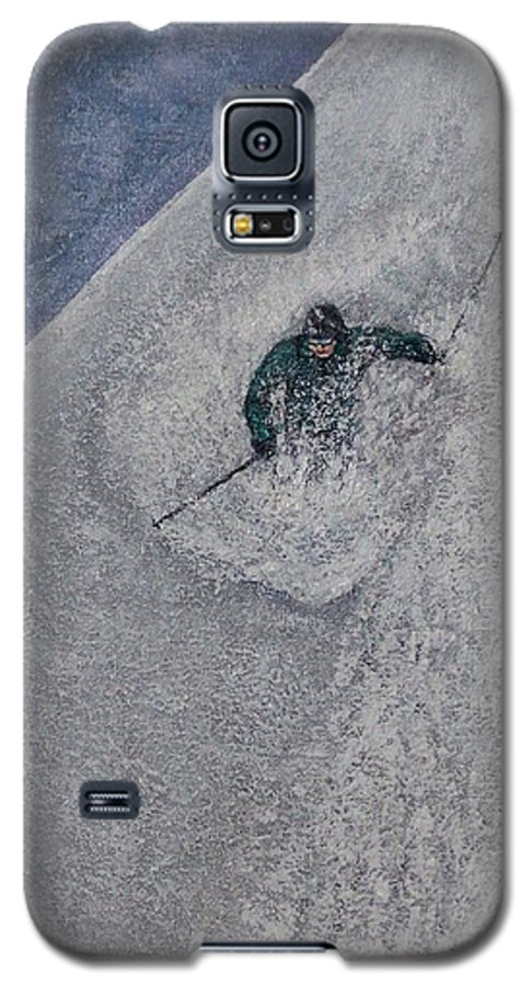 Ski Galaxy S5 Case featuring the painting Gravity by Michael Cuozzo